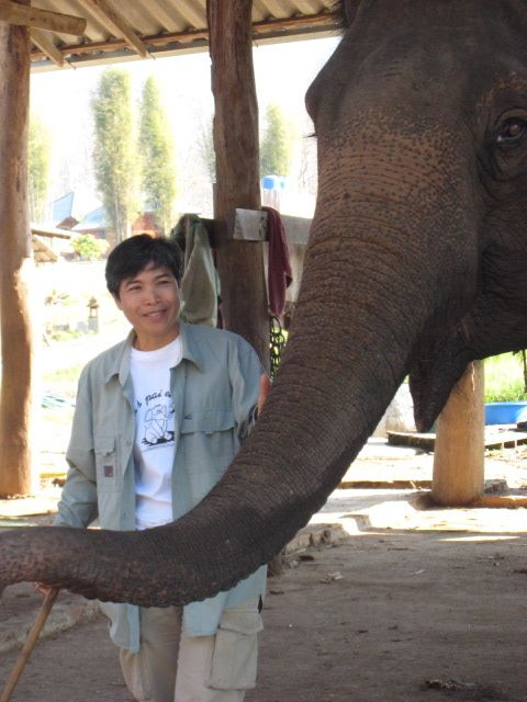 """Visible Silence: Thai Tomboys and the Ladies Who Love Them"" subject Thom Ruecha and her elephant"